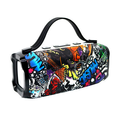 Outdoor Portable Bluetooth Speaker With Graffiti Design And FM Radio