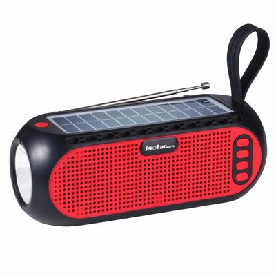 Factory Price IS-X12 Portable Wireless Solar Bluetooth Speaker with FM Radio LED Torch Wholesale-Jiahaoting